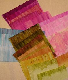 Alcohol Inks on crepe paper