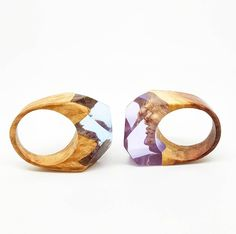 IN LOVE!! absolutely adore these resin and wood pieces by ArtfulResin on Etsy. Love the colours and the organic textures, definitely #IWantOneOfThose! #jewellery #fashion #ring