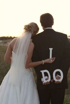 We have signs that say I Do with our wedding date that I'd like to get a photo with
