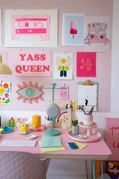 Are you loving the 2018 as much as I am? Today is my reveal day and as you can see I REALLY… Room Ideas Bedroom, Bedroom Decor, Room Goals, Home Office Decor, Home Decor, Aesthetic Room Decor, Inspiration Wall, Home And Deco, Room Colors