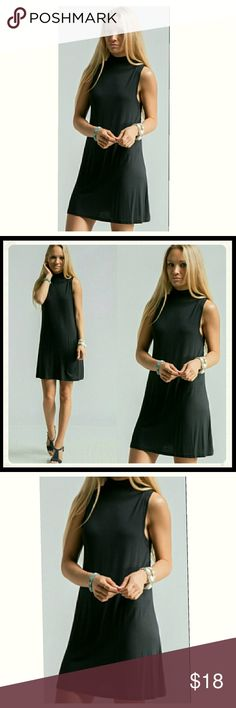 Little Black Dress 👗 Brand New with tags.  Mock-neck and Sleeveless.   Little black dress. Classic and Versatile!    95% Rayon and 5% Spandex  Excellent Condition! Fashionomics Dresses Mini