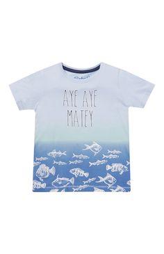 Blue Ombre Aye Matey T-Shirt