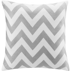 Intelligent Design Chevron Square Pillow ($18) ❤ liked on Polyvore featuring home, home decor, throw pillows, grey, zig zag throw pillows, gray accent pillows, plush throw pillows, grey throw pillows and grey home decor