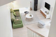 Parkett Svalbard natur LIMITED EDITION White Apartment, Green Sofa, Floor Chair, Flooring, Table, Furniture, Home Decor, Decoration Home, Room Decor