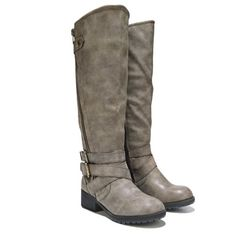 Knee High Moto Boots NEW! Brand New! Stone/Taupe color knee high strappy zip up Moto boots, Easy zip up entry, one on outside of boot and shorter zipper on inside, with 2 adjustable buckles around ankle and a 2 inch heel. Final Price unless bundled Madden Girl Shoes Combat & Moto Boots