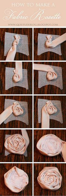 How to make a fabric rosette by Laura Singer, via Flickr