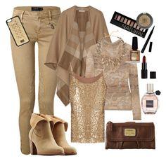 """Beige fashion"" by kdorisz on Polyvore"