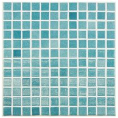 Merola Tile Ruidera Square Niebla Azul 13 in. x 13 in. x 5 mm Glass Mosaic Wall Tile-GTORSNAZ - The Home Depot