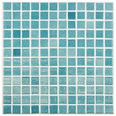 Merola Tile Ruidera Square Niebla Azul 13 in. x 13 in. x 5 mm Glass Mosaic Wall Tile-GTORSNAZ - The Home Depot