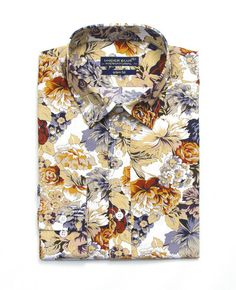I thought this was a goldfish print Cool Outfits For Men, Mens Printed Shirts, Preppy Boys, Mens Designer Shirts, Mens Fashion Wear, Well Dressed Men, Urban Fashion, Shirt Style, Casual Shirts