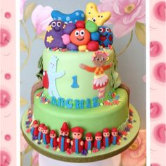 In the night garden cake Garden Birthday Cake, First Birthday Cakes, Birthday Cake Girls, 2nd Birthday, Birthday Ideas, Garden Cakes, Night Garden, Cake Pictures, Novelty Cakes