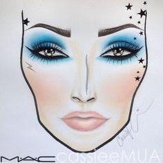 CASSIEMUA ••• Kat Von D Chrysalis Eyeshadow Palette Face Chart