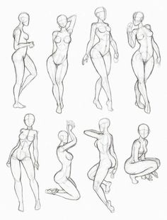 Simple/Standard Poses For Reference.