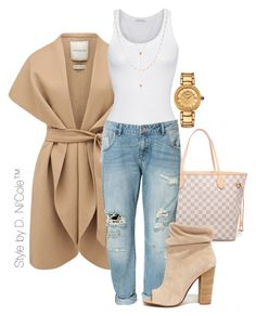 """""""Untitled #3249"""" by stylebydnicole ❤ liked on Polyvore featuring Louis Vuitton, Forever New, American Vintage, Zara, Kristin Cavallari, Jennifer Zeuner and Versace"""