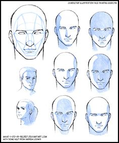 Face Shading Basic Planes By What I Do Is Secret On Deviantart How To Shade Shading Faces Face Drawing