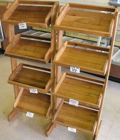 WOODEN COUNTRY STORE STYLE DISPLAY SHELVES LOT OF : Lot 4