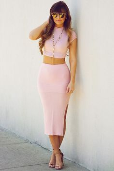 Playing For Keeps Crop Top: Baby Pink