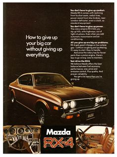 Mazda RX-4. ★Pinned by http://FlanaganMotors.com.