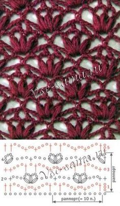 photophotoSimple knitting pattern with right and left stitches for beginners laceknitti .Simple knitting pattern with right and left stitches for beginners laceknitting Simple knitting pattern with right and left stitches for beginnershow to fix the Crochet Diagram, Crochet Chart, Crochet Motif, Crochet Lace, Crochet Stitches Patterns, Crochet Patterns For Beginners, Stitch Patterns, Knitting Patterns, Beau Crochet