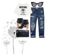 """""""Untitled #120"""" by marieyi29xo ❤ liked on Polyvore featuring jcp, Abercrombie & Fitch, Loeffler Randall, Moschino and Karen Walker"""