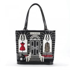 Couture Shop Edith: Carry your belongings in the stylish Couture Shop Edith. This style is an eye-catching addition to yours, or your loved ones collection. Carry your laptop, book and other essentials in this spaciously design everyday purchase. - Visit Lulu Guinness at http://www.luluguinness.com/