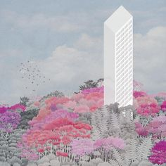 """Pretending in Colours Carlalberto Amadori Project A """"milanese"""" postmodernwhimagainst the indecision of the form, and the indifference of views. Z tower is a project of resistance to the vertic..."""