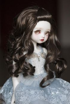 Dark Grey Miss U Hair 9-10 Inch 1//3 BJD MSD DOD Pullip Dollfie Doll Wig Short Wavy Hair Not for Human