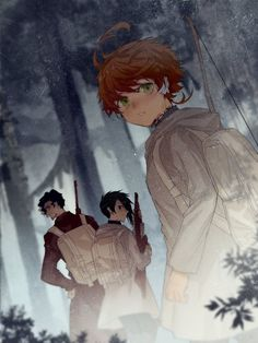 Yakusoku no Neverland (The Promised Neverland) Image - Zerochan Anime Image Board Anime In, Me Me Me Anime, Anime Love, Manga Anime, Izu, Norman, Dark And Twisted, Neverland, Haikyuu