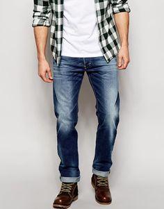 Diesel Jeans Darron 840F Slim Fit Mid Wash