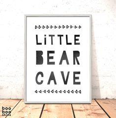 Scandi Nursery Print Little Bear Cave Monochrome Tribal Nursery Art for Boys Room Woodland Nursery Art Nordic Nursery Art Bear Cave Print by boobooskins on Etsy #modern #decor #nursery #kids #room #kidsroom #boys #girls #decor #baby #babysroom #cute #art #native #american #scandi #nordic #minimalist