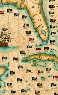 101 Pirates And Their Flags Large Artwork by GeographicsArt