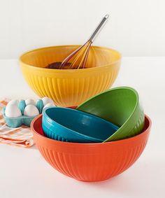 Look at this #zulilyfind! Prep & Serve Large Mixing Bowl Set #zulilyfinds