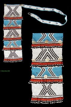 South Africa | Necklace from the Xhosa people of the eastern Cape region | Glass bead, string and buttons | ca. 1960s/70s | 90$: