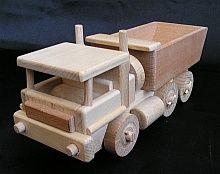 Mobiler LKW mit beweglichem Kipper.