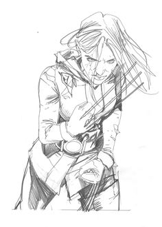 Rogue W.I.P. by Steve McNiven *