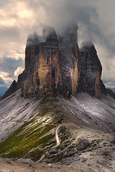 The three peaks of Lavaredo by Tiziano Pieroni Scenic Photography, Landscape Photography, Nature Photography, Beautiful World, Beautiful Places, Natural Structures, Sunset Wallpaper, Fantasy Places, To Infinity And Beyond