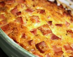 Ham and Cheese Crustless Quiche left over Ham from Easter recipe