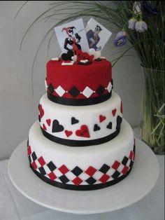 Harley and Joker themed cake