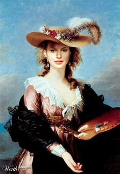 Self Portrait in a Straw Hat Elisabeth Vigée Le Brun was a highly popular portrait painter, patronised particularly by Queen Marie Antoinette. Her painting 'Self Portrait in a Straw Hat' hangs in Room 33 Classic Paintings, Female Painters, Oil Portrait, Painter, Portraiture, Famous Portraits, Portrait Painting, Female Artists, Art World