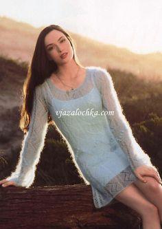 Ажурное мини-платье из тонкого мохера