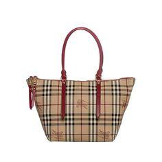 bc6aed552e1e BURBERRY Haymarket Core Salibury Tote Red Handbag Bag New