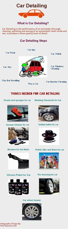 #Car_Detailing_Infographic. Infographic about how to detail your car step by step and which things you need for detail your exotic cars.