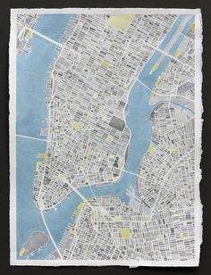 Hand-painted watercolor map of New York City, New York.Explore additional locales at: contour.es