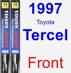Front Wiper Blade Pack for 1997 Toyota Tercel - Vision Saver