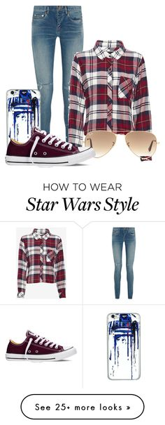 """Sans titre #1289"" by nadeigelapointe on Polyvore featuring Yves Saint Laurent, Rails, Ray-Ban, Converse, women's clothing, women, female, woman, misses and juniors"