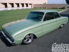Take a look at this cleanly modified custom 1961 Ford Falcon from Custom Rodder Magazine Ford Falcon, Muscle Cars, Ford Lincoln Mercury, Old Fords, Pony Car, Sweet Cars, Car Ford, American Motors, Custom Cars