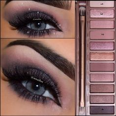 Urban decay naked3 palette I know the pic is blue eyed but this would look great on brown eyes too!! #naked3 #browneyes