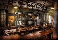 steampunk interior architecture - Google Search