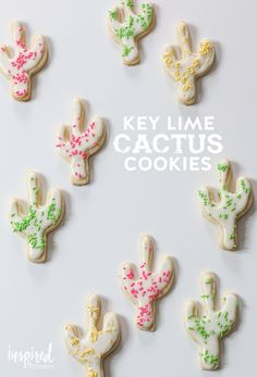 Key Lime Cactus Cookies   Inspired by Charm