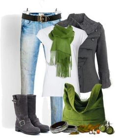 Grey & Green Apple makes a great winter combination!